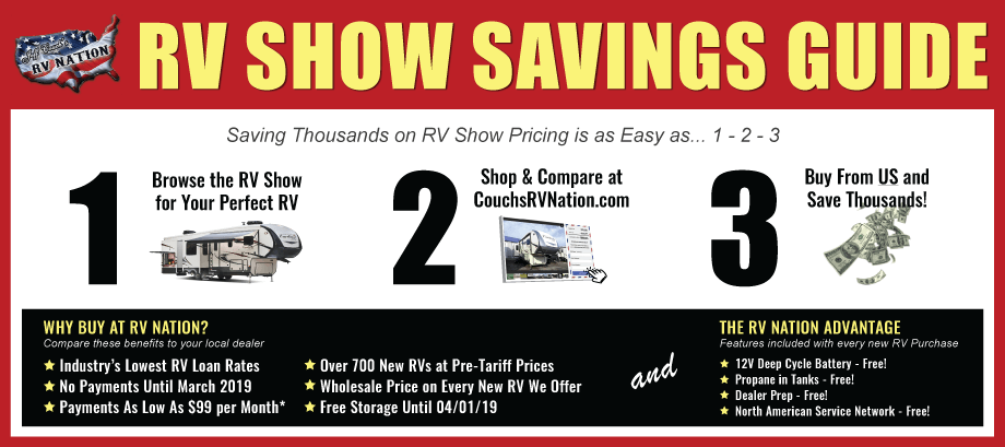 RV Nation's 2019 RV Show Savings Guide