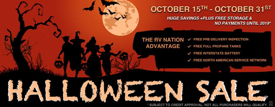 RV Nation's Halloween Pick-A-Treat Sale