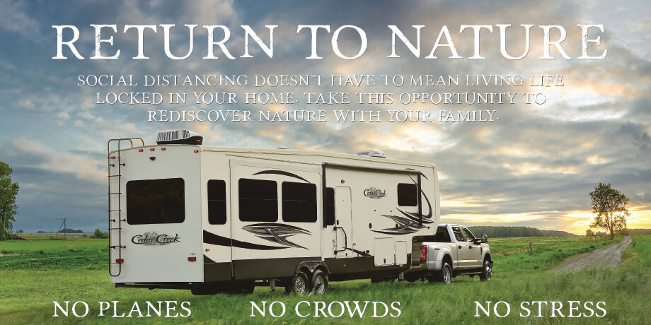 RV Nation will help you Return to Nature