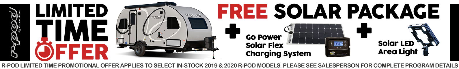 R-Pod Free Solar Package Promotion